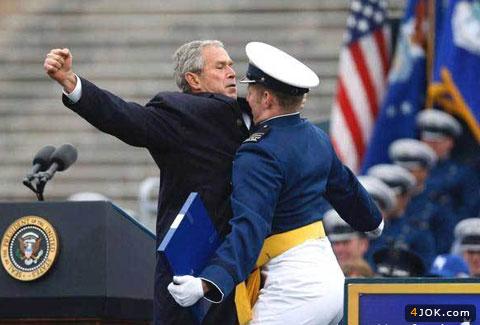 احترام برره ای با جورج بوش !