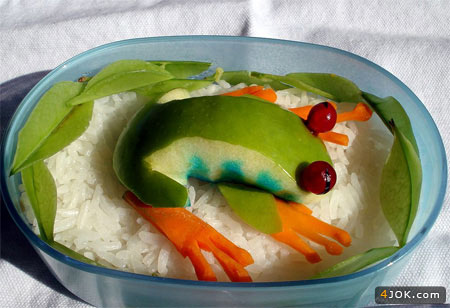 قورباقه پلو با سبزیجات ویژه