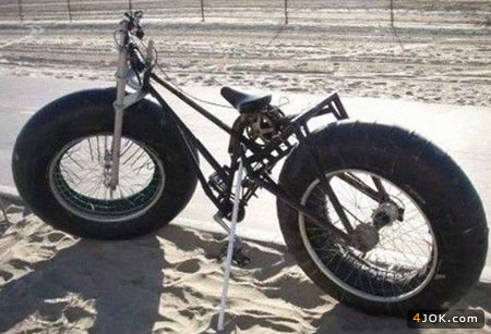 دوچرخه با لاستیک پهن