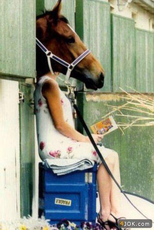 آیا این خانوم اسبه ؟؟؟