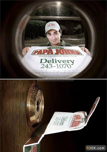 ایده جالب تبلیغ پیتزا فروشی :D